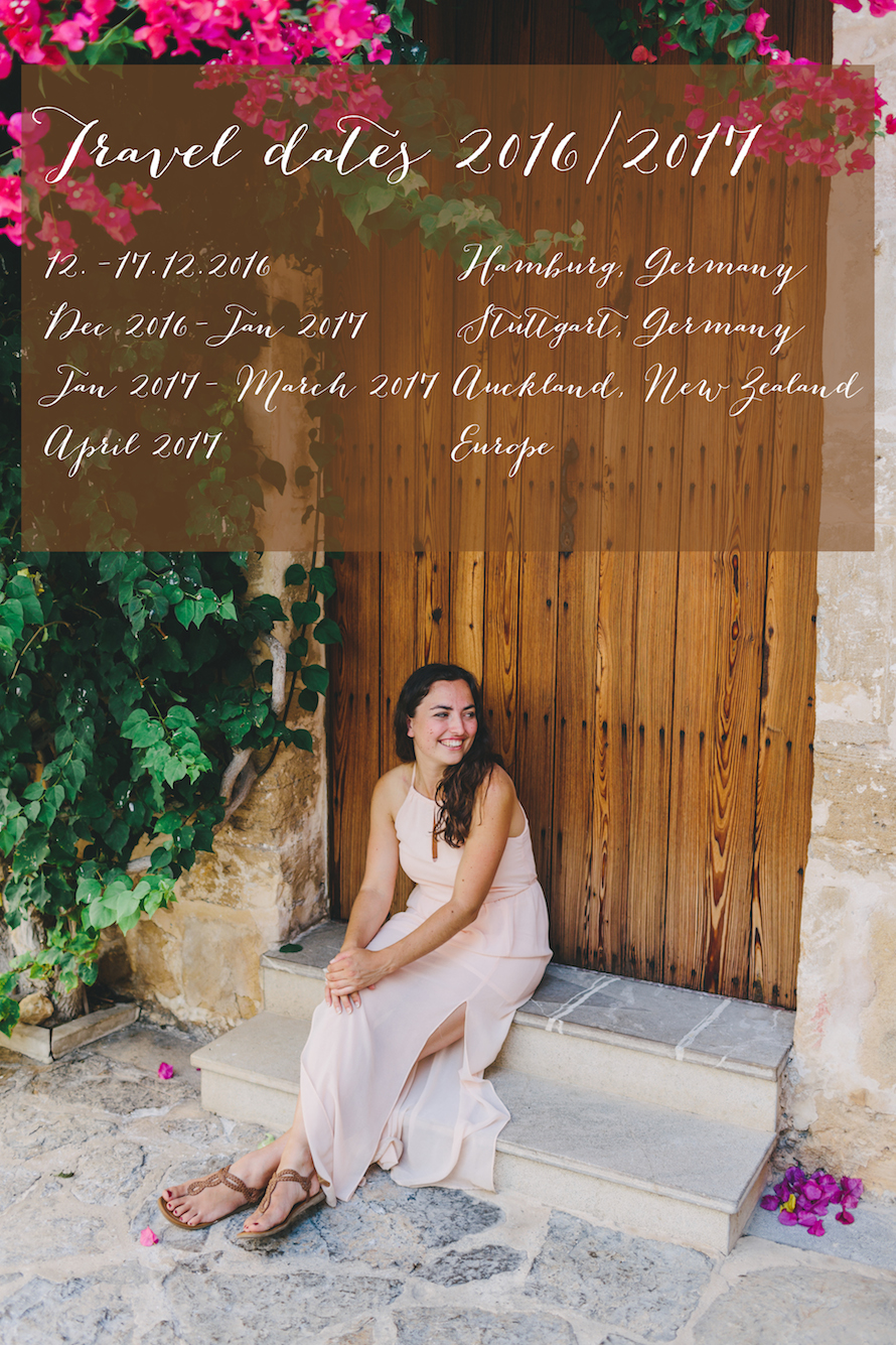 Travel Dates Michaela Janetzko 2017